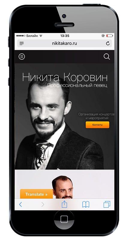 Новый сайт nikitakaro.ru!